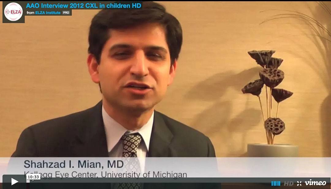 Interview on pediatric cross-linking at the AAO 2012  Chicago